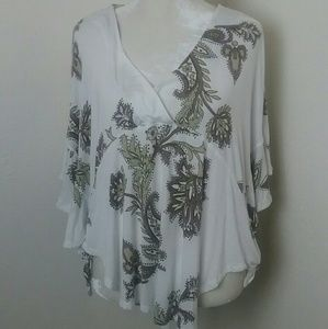 Free People Top Free Flowing Butterfly Sleeves